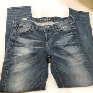 "Madewell size 26 distressed ""Worker"" Jeans"